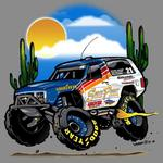 Long time Off Road racing event sponsor and racer Michael Gaughan and his Walker Evand built Ramcharger.  Mr. Gaughan won the 2012 NORRA Mexican 1000 overall in the Vintage class.